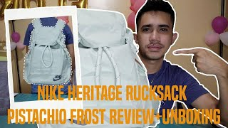 NIKE HERITAGE RUCKSACK PISTACHIO FROST REVIEW+UNBOXING