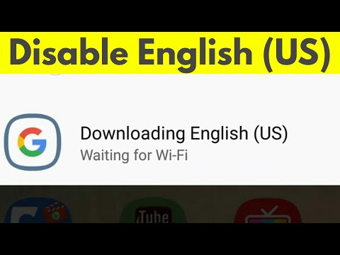 How To Remove/Clear Downloading English (US) Waiting For Wifi & Disable Auto Download-2020