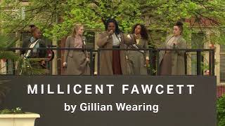 Suffragette song performed at Millicent Fawcett statue unveiling by Sylvia Musical Cast - 5 News