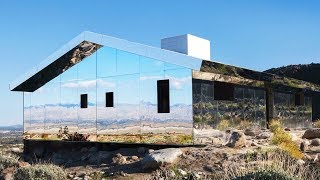 Unusual INVISIBLE House Made Out Of Mirrors