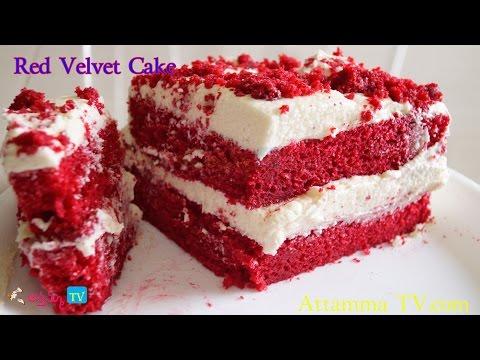 Video Red Velvet Cake Recipe by Attamma TV