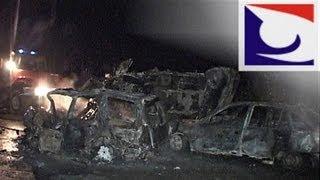Водитель, не справившийся с обгоном, заживо сгорел в машине