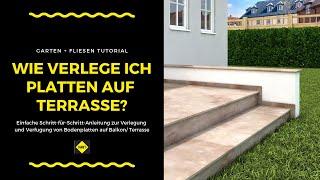 Bodenfliesen / Bodenplatten auf Balkon und Terrasse verlegen / verfugen - NEU - SAKRET Heimwerker TV