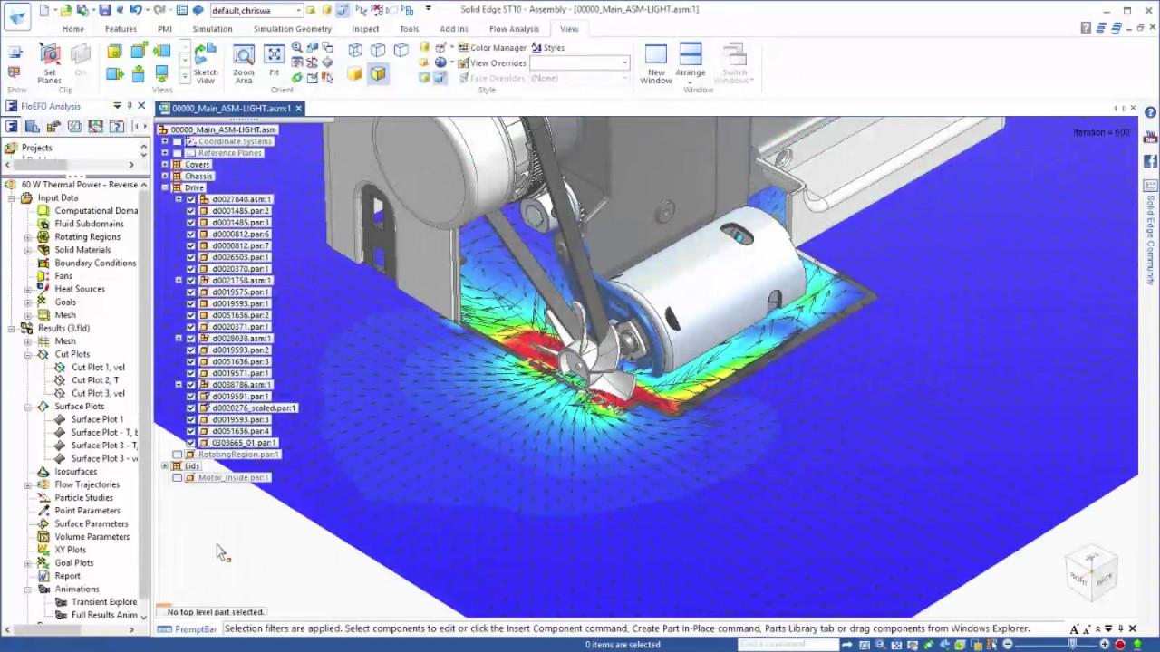 Vorschaubild: Solid Edge ST10: Simulation von Strömungen und Wärmeübertragung