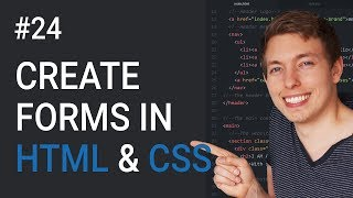 24: Forms In HTML and CSS   How To Create A Form   Learn HTML and CSS   HTML Tutorial   CSS Tutorial