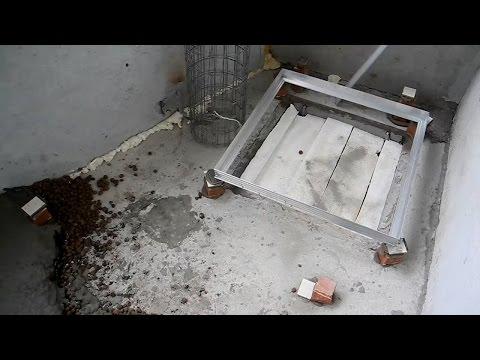 Как сделать стяжку на балконе с пожарным люком ч.1