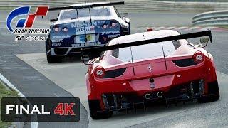 Gran Turismo Sport Nordschleife FINAL - Ferrari 458 GT3 Onboard 4K [Mission Challenge] Stage 8-8