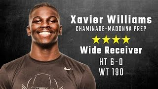 Xavier Williams highlights   Alabama 4-star signee from Chaminade-Madonna
