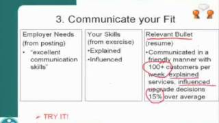Writing Effective Resumes - Part 3 - Identifying Your Skills
