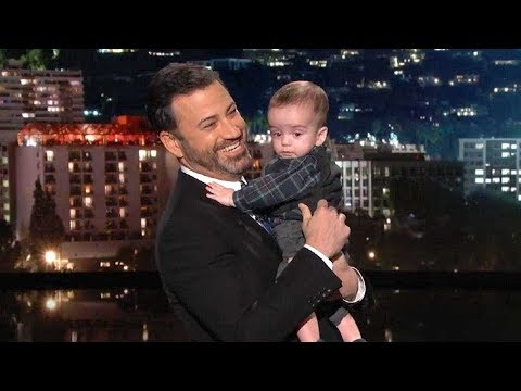 Jimmy Kimmel Tears Up Holding His Son, Billy, During His Return to Late Night