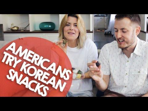 AMERICANS TRY KOREAN SNACKS // Grace Helbig