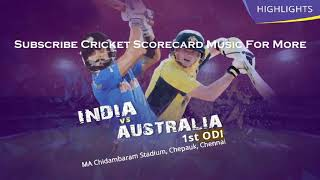 Star Sports 2017-18 ( India Vs Australia,  New Zealand , Sri Lanka, Afghanistan )  Scorecard Music