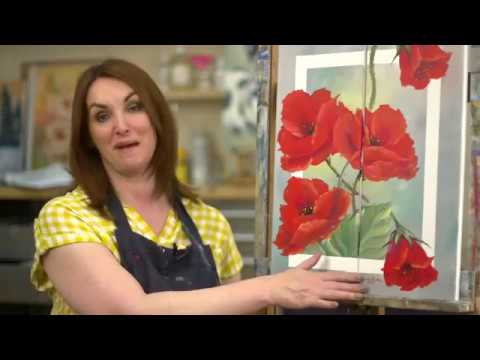 Poppy Duo Flower OIL PAINTING TUTORIAL- Paint With Maz Online PREVIEW
