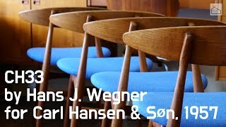 🇨🇦🇩🇰CH33 By Hans J. Wegner For Carl Hansen & Søn, 1957