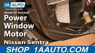 How To Replace Window Regulator 00 06 Nissan Sentra
