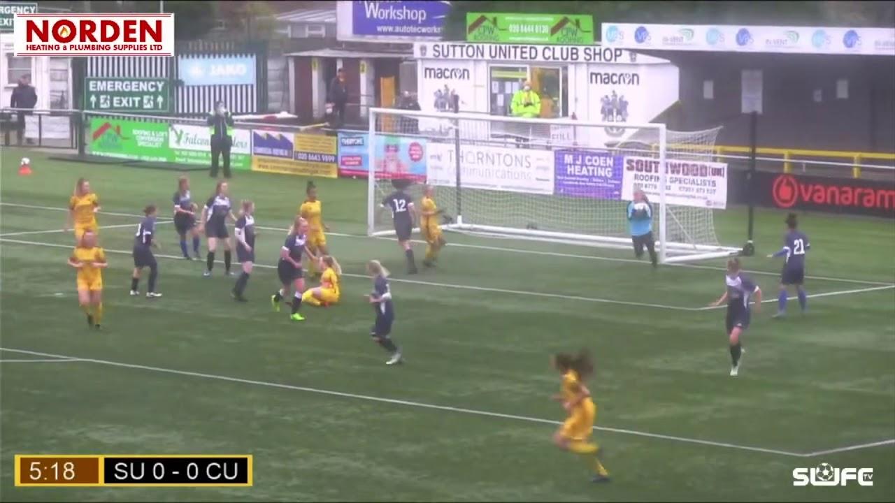 Highlights: Sutton United Women v Clapham United 13/12/20