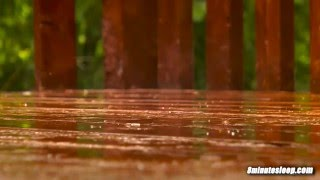 Rain On Deck   Sleep, Study or Focus With Calming Rainstorm Nature Video   White Noise 10 Hours