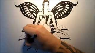 How To Draw A Sexy Fairy (Tattoo Design)