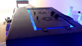 Bio cube with e3 bubble Magus aquatop media reactor and Japanese marine led and homemade canopy