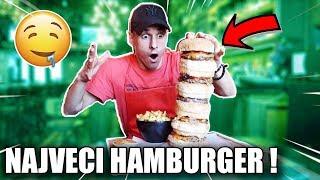 AKO POJEDEM SVE SAM , NE PLACAM NISTA !! *najveci hamburger*