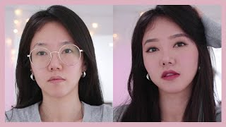 GET READY WITH ME ♥ Natural Korean Everyday Makeup, Story Time   Transformation