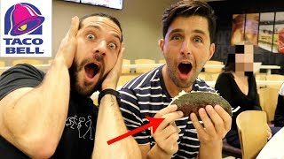 TRYING SECRET MENU ITEMS AT TACO BELL HEADQUARTERS!