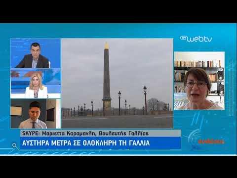 Η Ελληνίδα βουλευτής Γαλλίας Μαριέττα Καραμανλή μιλά στην ΕΡΤ | 25/03/2020 | ΕΡΤ
