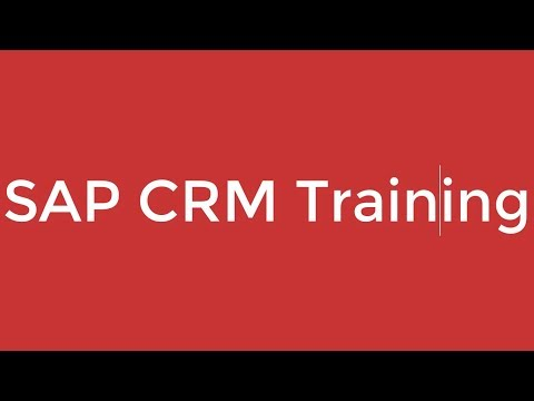SAP CRM Training - Introduction to ERP and SAP CRM (Video 1 ...
