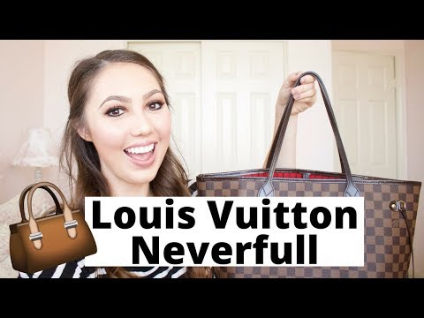 What's in My Purse?! Louis Vuitton Neverfull MM Damier Ebene + Review