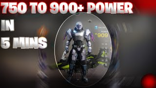 Destiny 2 How to get from a 750 to 900+ POWER in MINS