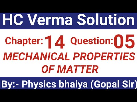 H.C. Verma Solutions - Some Mechanical Properties of Matter - Chapter 14, Question 5