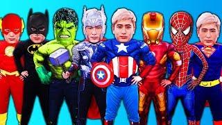 슈퍼히어로 스파이더맨 아이언맨 코스튬과 캐릭터 소개 Superheroes Costume Runway show
