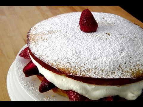 How to make a Strawberry Cake – by Laura Vitale – Laura in the Kitchen Ep. 103