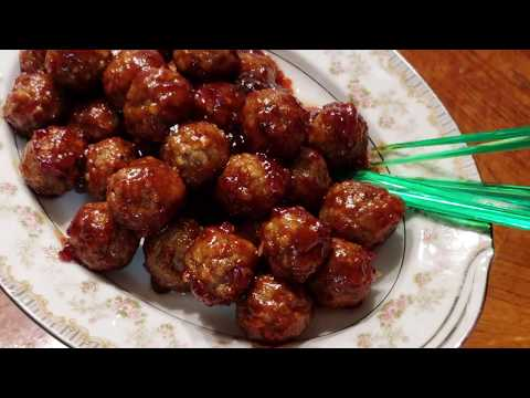 Sweet and Spicy Meat Balls For Appetizer very easy to make