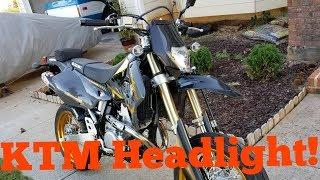 DRZ400SM Supermoto KTM Headlight Mod Install DIY