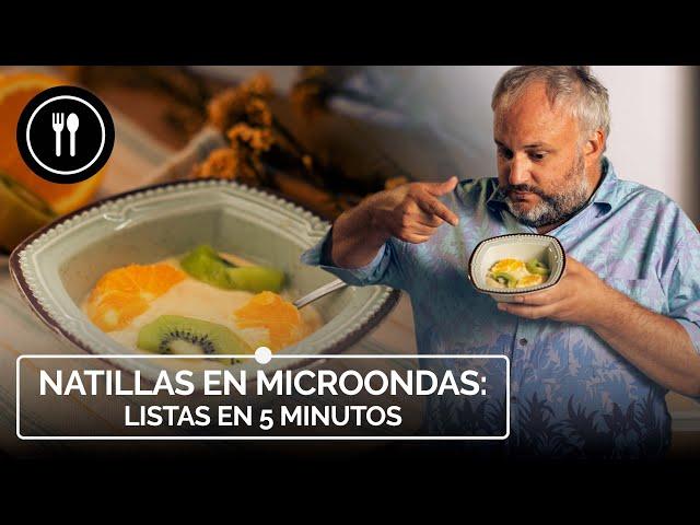 NATILLAS en MICROONDAS, listas en 5 MINUTOS