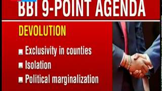 The BBI report's nine point agenda