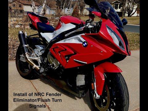 NCR Fender Eliminator and flush turn Signals installation-2015 BMW S1000RR