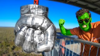 World's HEAVIEST HULK FIST Smashes Everything!! (300kg/660lbs SOLID STEEL)
