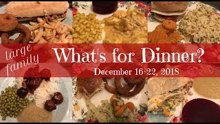 What's for Dinner? (& Dessert!) | Dec.16-22, 2018 | Large Family Meals