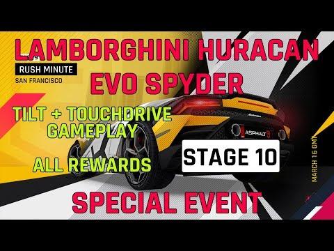 Estágio 10 Lamborghini Huracan Evo Spyder Evento especial