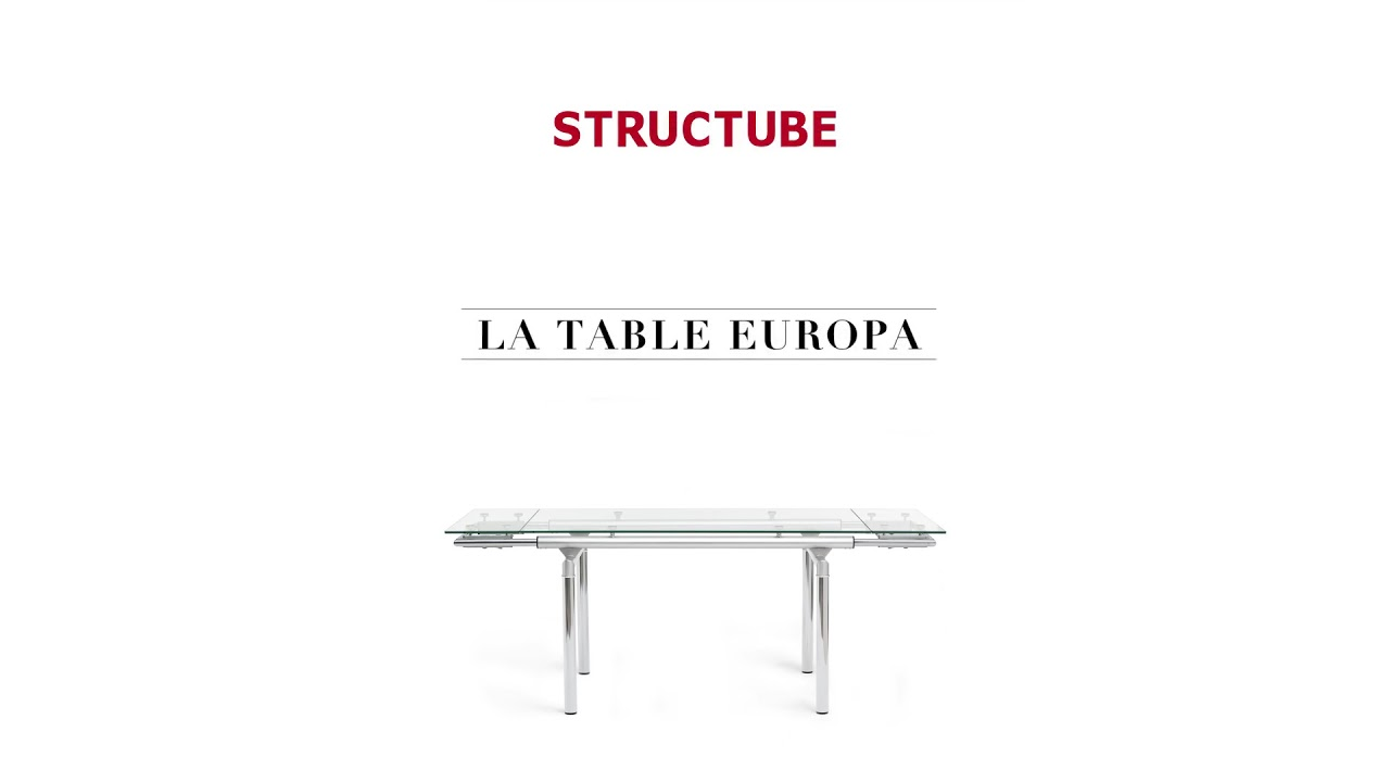 EUROPA Table à rallonge en verre