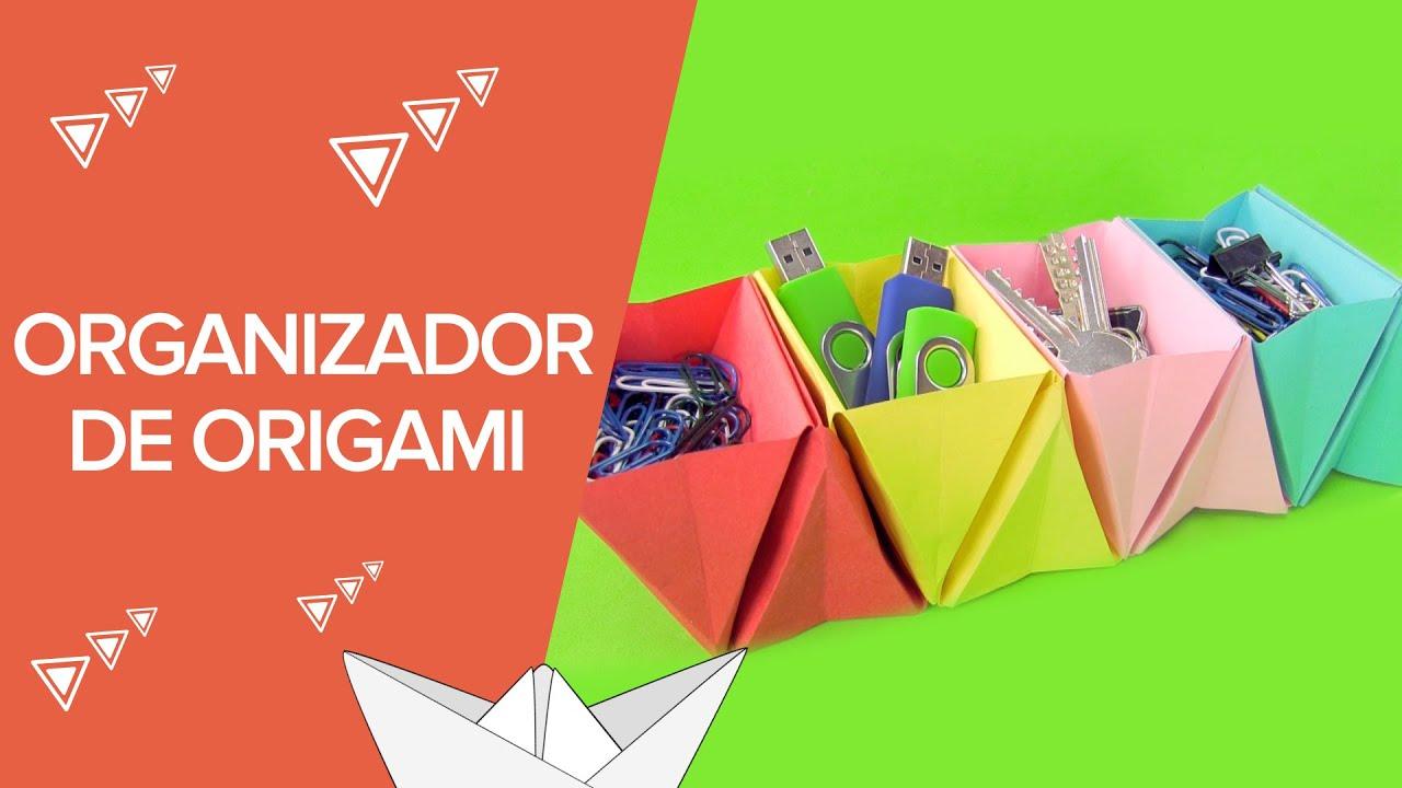 Organizador de cartulina paso a paso | Origami para niños