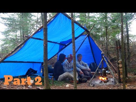3 Day Bushcraft Camp Part 2: Steak Dinner, Swimming, Fishing, Canoeing, Finding Live Bait.