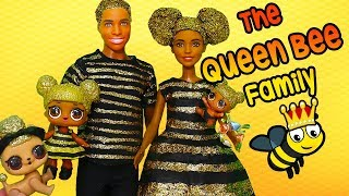 SWTAD LOL Families ! The Queen Bee Family Gets a Glitterizer   Toys and Dolls Fun Pretend Play