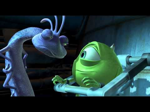 Monsters Inc. Randall uses the scream extractor on Mike