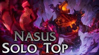 League of Legends | Infernal Nasus Solo Top - Full Game Commentary + Facecam