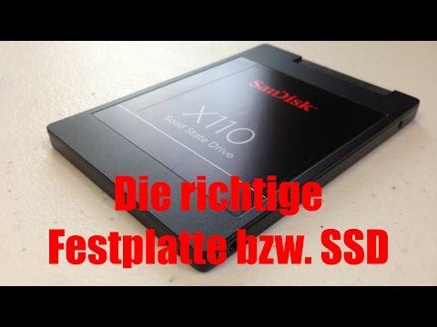 Ratgeber | Die Wahl der richtigen Festplatte bzw. SSD