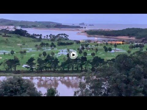 Así se despierta Cantabria después del temporal, con agua que rebosa sus campos