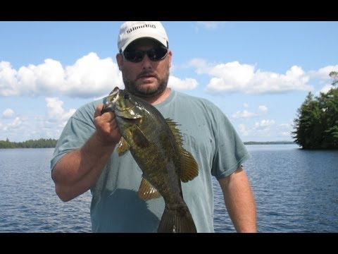 Smallmouth Bass Fishing on Indian Pond – Maine